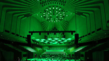 The Concert Hall will go green this Monday.
