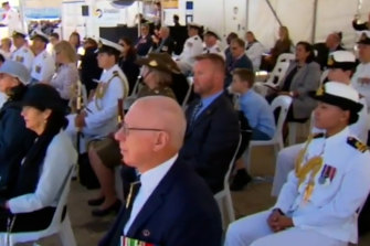 The ABC's edited version of the event incorrectly suggested that Governor-General David Hurley was one of the dignitaries watching the routine.