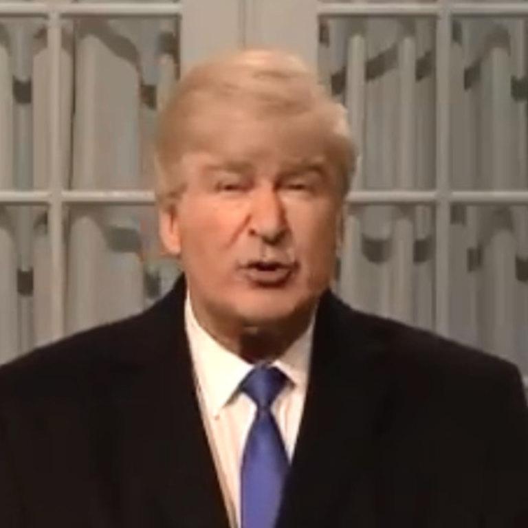 Alec Baldwin as Donald Trump in Saturday's episode of SNL.