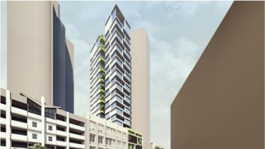 The development proposed by Di Marco Group has a car lift to take residents' cars straight up to their podium car park.