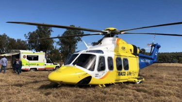 The Sunshine Coast-based RACQ LifeFlight Rescue helicopter retrieved the body of the 22-year-old man early on Sunday morning.