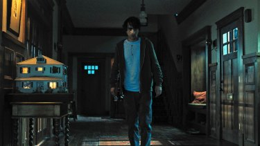 Alex Wolff in a scene from the horror film.