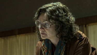 Emily Watson as Ulana Khomyuk, a fictional character in the HBO dramatisation of the 1986 nuclear disaster in the Soviet Union.