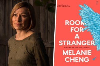 Author Melanie Cheng and her book Room For a Stranger.