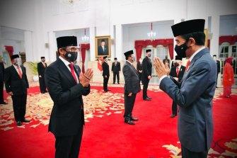 Santiago Uno berangkat bersama Presiden Indonesia Joko Widodo.