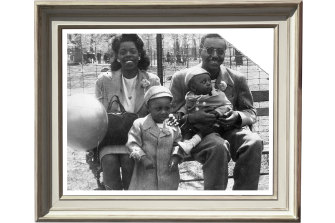 US physicist Ron Mallett (front) with his parents, Dorothy and Boyd Mallett, and baby brother Jason in 1948. After his father's sudden death, Mallett dedicated his life to the study of time and space.