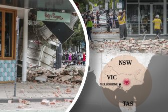 Melbourne residents were left shocked after the earthquake.