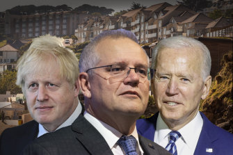 Prime Minister Scott Morrison's meeting with British Prime Minister Boris Johnson and US President Joe Biden was, at the time, written off.