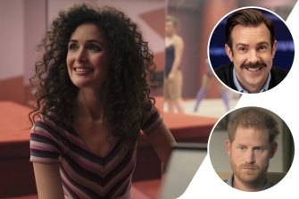 Clockwise from main: Rose Byrne takes a journey of self discovery in Physical, Jason Sudeikis as Ted Lasso and Prince Harry in The Me You Can't See.