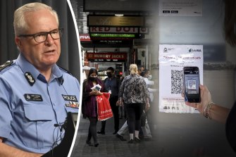 WA Police Commissioner Chris Dawson defended police accessing SafeWA data while investigating the shooting of bikie boss Nick Martin earlier this year.