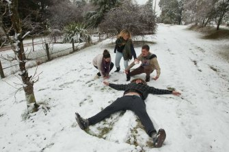 Snow falls were experienced in the central west of NSW at Mount Lambie, near Bathurst, in June.
