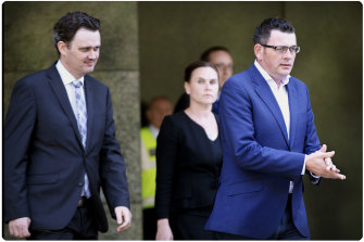 Robin Scott (L) and Premier Daniel Andrews