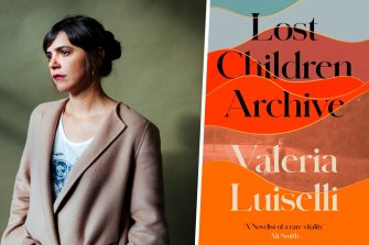 Author Valeria Luiselli and her novel Lost Children Archive.