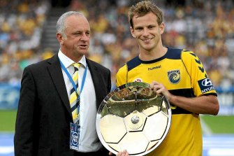 Early success: Alex Wilkinson won the 2012 Premiers' Plate with the Mariners.