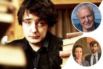 Clockwise from main: Dylan Moran in Black Books, David Attenborough and Olivia Colman and David Tennant Broadchurch.