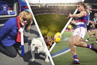 Western Bulldogs fan Kerry Leech has secured tickets to the Perth grand final thanks to the kindness of two strangers in Melbourne.