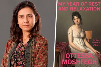 Author Ottessa Moshfegh and her novel My Year of Rest and Relaxation.