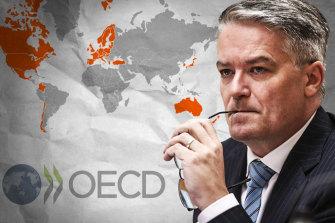 Former Liberal finance minister Mathias Cormann is seeking to run the OECD.