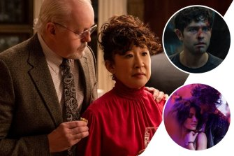 Clockwide from main: David Morse and Sandra Oh in The Chair, Adrian Grenier in Clickbait and guilty pleasure Sex/Life.