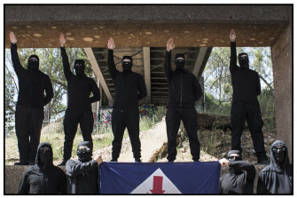 Neo-Nazis from the National Socialist Network, from their encrypted online sites.