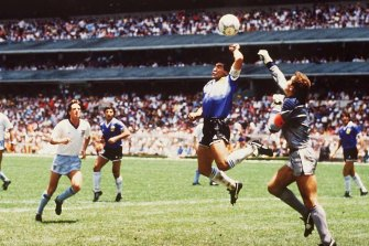 """Maradona's """"Hand of God"""" goal in the 1986 World Cup quarter-final against England is among the most controversial in the tournament's history."""