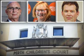 Attorney-General John Quigley; Children's Court Magistrate Catherine Crawford; Children's Court president Hylton Quail.