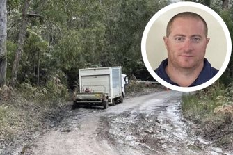 A truck belonging to Tony Ditri, inset, was found just off Pemberton-Northcliffe Road.