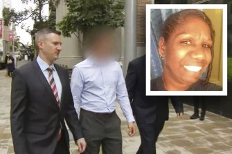 The WA Police officer (blurred), charged with murder over the death of JC (inset).
