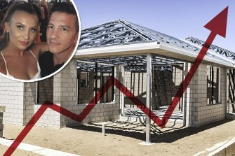 David Orlando and his fiance, Bree, were forced to pull out of their new home contract with Summit Homes after the builder increased the cost by $47,000.