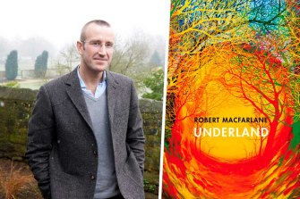 Author Robert Macfarlane and his novel Underland.