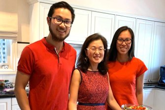 Gladys Liu with her children, Derek and Sally, on Christmas Day 2019. Photo courtesy of Gladys Liu