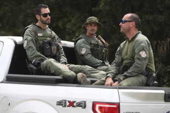 Polie officers enter the Carlton Reserve in North Port, Florida, searching for Brian Laundrie, the boyfriend of Gabby Petito, now confirmed dead.