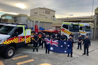 Emergency service personnel deployed to Canada will be bringing a few Australian flags with them to hang up at their field camps.