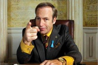 Criminal lawyer: Bob Odenkirk as the fast-talking Saul.