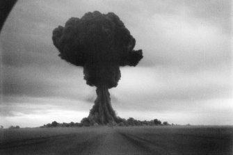 The blast at the  Semipalatinsk Test Site on August 29, 1949.