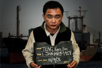 """Shore party"" member, Teng at his arrest."