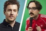 Pfirst Dose's Daniel Connell and The Running Joke host Daniel Muggleton.