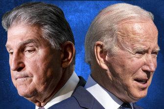 At odds over the climate: US Senator Joe Manchin and US President Joe Biden.