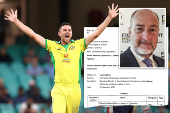 Cricket Australia and Seven West Media broadcast rights dispute.
