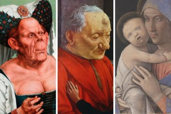 Quentin Matsys' The Ugly Duchess; Domenico Ghirlandaio's An Old Man and his Grandson; Andrea Mategna's Mother and Child.