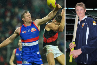 Western Bulldogs defender Alex Keath, and when he signed to play cricket for Victoria.