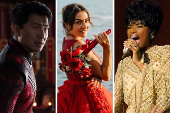 From left: Shang-Chi and the Legend of the Ten Rings, Rosa's Wedding and Respect.