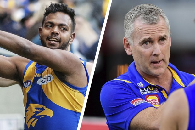 Adam Simpson (right) personally would love Willie Rioli to return to the club but it was not entirely his decision.