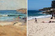 Arthur Streeton's Coogee Beach then, versus now.