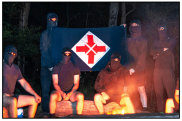In the propaganda of the largest neo-Nazi group in the country, they remained masked.