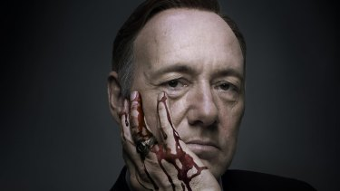 Kevin Spacey in House of Cards.
