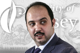 Sheikh Mubarak Abdullah al-Sabah, whose company paid $230,000 to one-time Casey mayor Sam Aziz before making a killing on a property deal in the municipality.