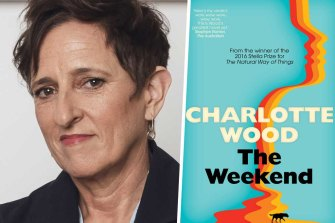 Author Charlotte Wood and her novel The Weekend.