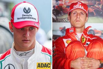 Mick Schumacher and his famous father Michael Schumacher.