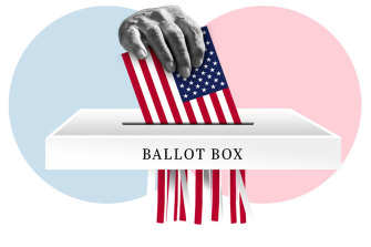 US President Donald Trump has claimed widespread fraud in early voting and has urged his supporters to monitor polling stations.